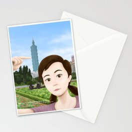 Fern Selfie with Taipei 101 Stationery Cards