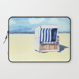Sylt Watercolor Beach Painting Laptop Sleeve