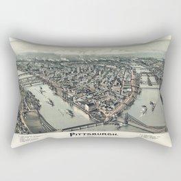 Pittsburgh Pennsylvania - Bird's Eye View - 1902 Rectangular Pillow