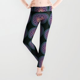 Mandala with geometric fantasy flower Leggings