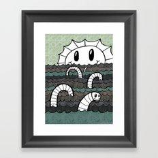 Sea Monster v2 Framed Art Print