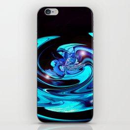 """Cut Blue Diamond""  iPhone Skin"