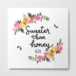 Sweeter Than Honey KJV Logo Metal Print