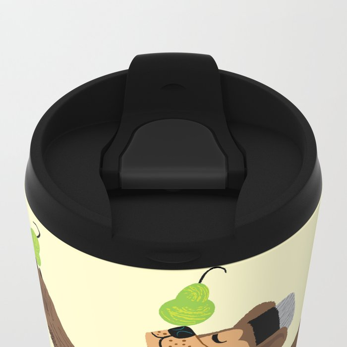 A Bear With Pears Travel Mug
