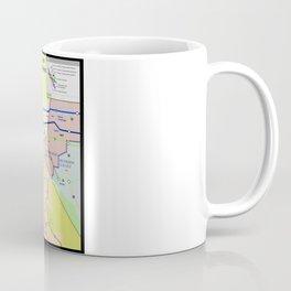 A subway style Map of Los Angeles Coffee Mug