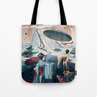 ice Tote Bags featuring Holiday ice by Tanya_tk