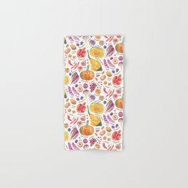 Autumn Harvest Pattern Annotated Hand & Bath Towel