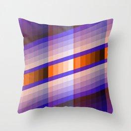 Color Harmony Blue orange Throw Pillow