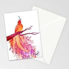 Rainbow Bird Stationery Cards