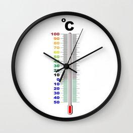 A Centigrade Thermometer Wall Clock