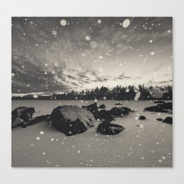 Twilight Snowfall Canvas Print