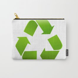 Green Recycle symbol on white background Carry-All Pouch