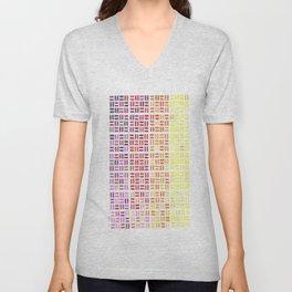 Pencil Mosaic #1 Unisex V-Neck