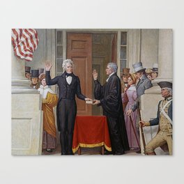 Andrew Jackson Taking Oath Of Office Canvas Print