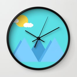 Mountain Background Wall Clock