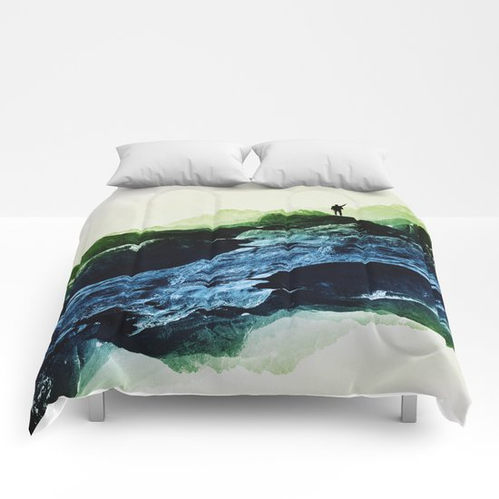 Blue Contact Comforters