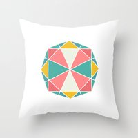 polygon Throw Pillows featuring Polygon by Juste Pixx Designs