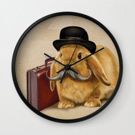 Commuter Bunny Wall Clock