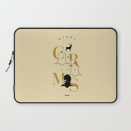 Merry Christmas Typo Laptop Sleeve