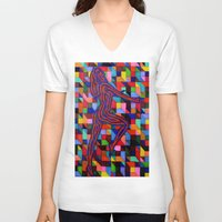 onward V-neck T-shirts featuring Onward and Upward by Ana Lillith Bar