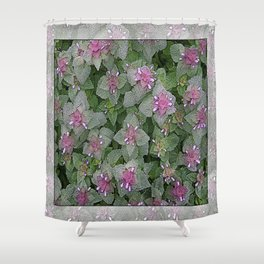 WILD SALVIA MAUVE AND GRAY GREEN Shower Curtain
