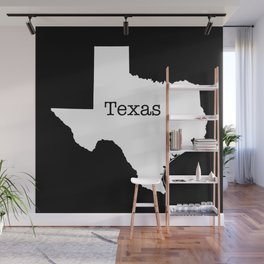Texas State outline  Wall Mural