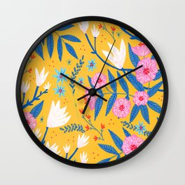 Magnolias and Camellias! Wall Clock