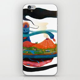 god playing iPhone Skin