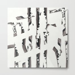 Forest abstract minimal painting Metal Print