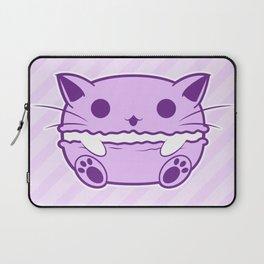 Purple Kawaii Cat Macaroon Laptop Sleeve