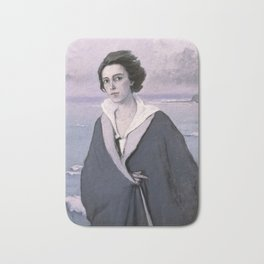 At The Seaside, Self-portrait by Romaine Brooks Bath Mat