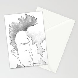 Big-haired Smoker #1 Stationery Cards