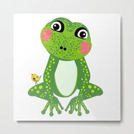 Miss Frog Metal Print