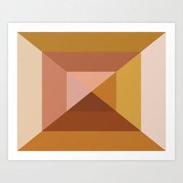 Mod Abstract Geometry Art Print