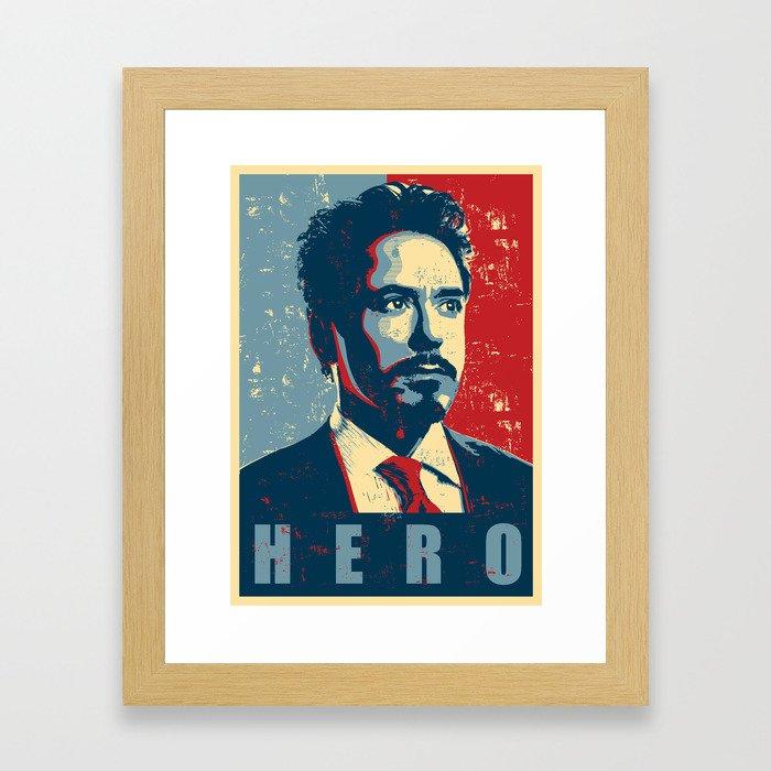 Tony Stark Framed Art Print