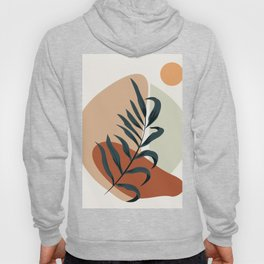 Abstract art leaf and sun Hoody