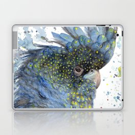 """Watercolor Painting of Picture """"Black Cockatoo"""" Laptop & iPad Skin"""