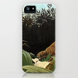 Henri Rousseau - Scouts Attacked by a Tiger iPhone Case