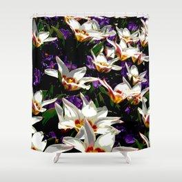 Tulips & Crocuses Shower Curtain