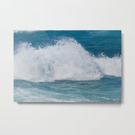 Hookipa Splash Waves Beach Break Shore Break Pacific Ocean Maui Hawaii Metal Print