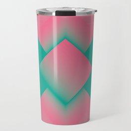 two energies green pink tower Travel Mug