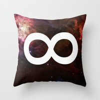 infinite Throw Pillows featuring Infinite by Sney1