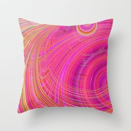 Re-Created  Hurricane 6 by Robert S. Lee Throw Pillow