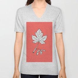 Canadian Maple Leaf Illustration Unisex V-Neck