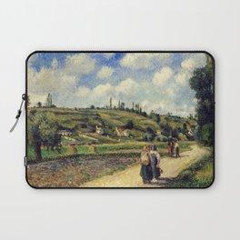 """Camille Pissarro """"Landscape near Pontoise, the Auvers Road"""" Laptop Sleeve"""