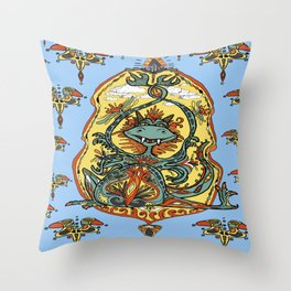 Art Nouveau dragon fantasy Throw Pillow
