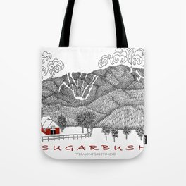 Sugarbush Vermont Serious Fun for Skiers- Zentangle Illustration Tote Bag