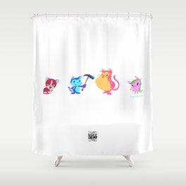 FERAL MUCHI Shower Curtain