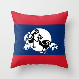 Laos, Roosters Sparring Throw Pillow