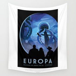 Europa - NASA Space Travel Poster Wall Tapestry